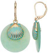 Dana Buchman Aqua Seashell Drop Earrings