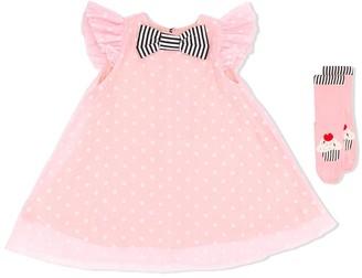 Wauw Capow By Bangbang Vanilla Dress with Wauw Cake Socks