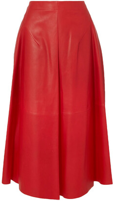 Jil Sander Leather Midi Skirt