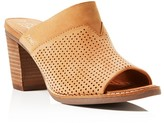 Toms Majorca Perforated High Heel Slide Sandals