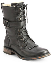 UGG Jena Leather Lace-Up Combat Boots