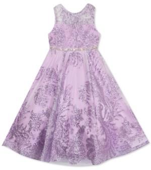 Rare Editions Toddler Girls Glitter Mesh Dress