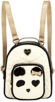 Betsey Johnson Quilted-Heart Panda-Face Backpack