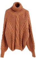Goodnight Macaroon 'Brenda' Bishop Sleeve Turtleneck Sweater (5 Colors)