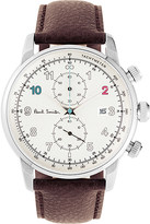 Paul Smith Block stainless steel and leather watch
