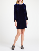 Marella Kate Velvet Dress, Navy