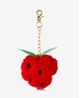 Express ok originals strawberry faux fur pom keychain and bag charm