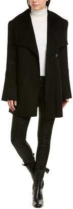 Laundry by Shelli Segal Asymmetric Wool-Blend Wrap Jacket