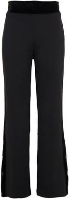Fusalp Velvet-trimmed Stretch-jersey Bootcut Pants