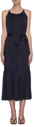 Equil Gathered halter neck tiered midi dress