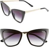 Quay x JLO Reina 52mm Mini Cat Eye Sunglasses