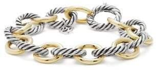 David Yurman Large Oval Link Bracelet With 18K Gold