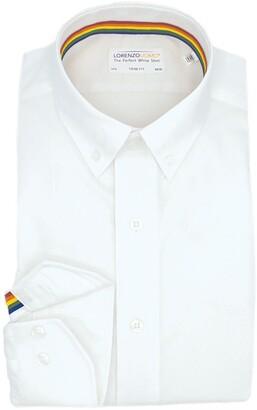Lorenzo Uomo Solid Textured Non Iron Trim Fit Dress Shirt