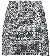 Tory Burch Cotton-blend jacquard mini skirt