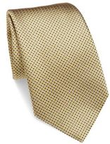 Ermenegildo Zegna Geometrical Patterned Silk Tie