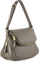 Tom Ford Jennifer Zipper Trimmed Medium Shoulder Bag, Graphite
