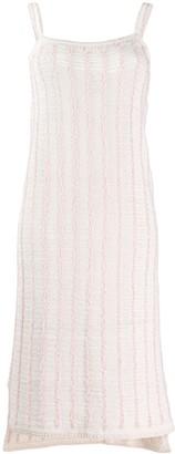Thom Browne Vertical-Stripe Shift Dress