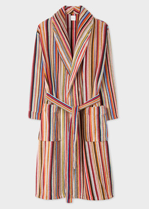 Paul Smith Men's Signature Stripe Towelling Robe