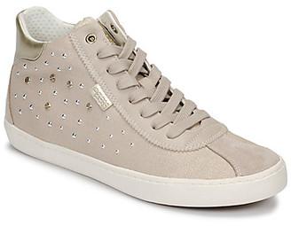 Geox J KILWI GIRL girls's Shoes (High-top Trainers) in Beige