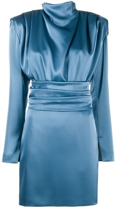 HUGO BOSS Draped-Detailing Fitted Mini Dress