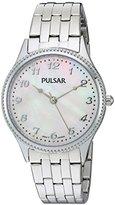 Pulsar Women's PH8139 Dress Analog Display Japanese Quartz Silver Watch