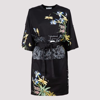 Givenchy Floral Print Belted T-Shirt Dress