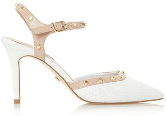 Dune London Caylee Studded Pointed Court Shoes