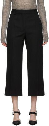 Victoria Beckham Black Cropped Flare Trousers