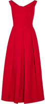 Preen by Thornton Bregazzi Finella Pleated Stretch-crepe Midi Dress - Red