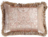 """Dian Austin Couture Home Dahlia Pieced Pillow with Fringe, 16"""" x 24"""""""