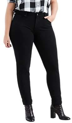Levi's Plus 311 Shaping Skinny Jeans, Ultra Black Night