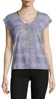 MICHAEL Michael Kors Printed Chain-Accented Top