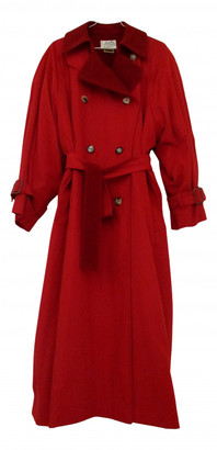 Hermes Red Polyester Trench coats