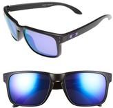 Oakley Women's Julian Wilson Signature Series Holbrook 57Mm Sunglasses - Matte Black/ Violet Iridium