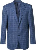 Canali woven check blazer - men - Wool/Silk/Linen/Flax - 48