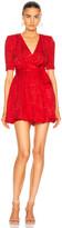 Stella McCartney Mireya V Neck Mini Dress in Lipstick   FWRD
