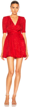 Stella McCartney Mireya V Neck Mini Dress in Lipstick | FWRD