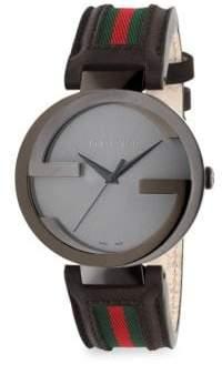 Gucci Interlocking G Black PVD Watch