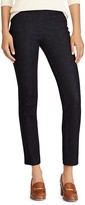 Lauren Ralph Lauren Flat-Front Skinny Jeans in Midnight Haze Wash