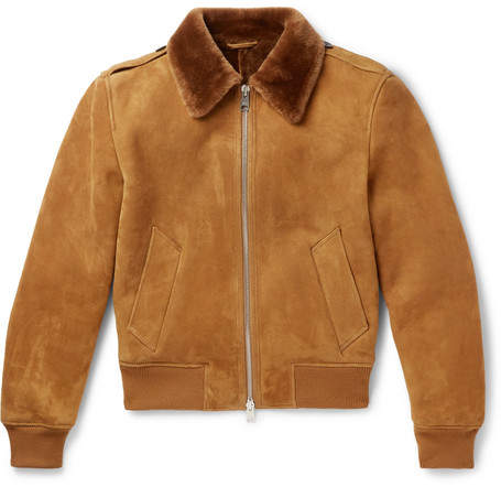 Ami Shearling Aviator Jacket