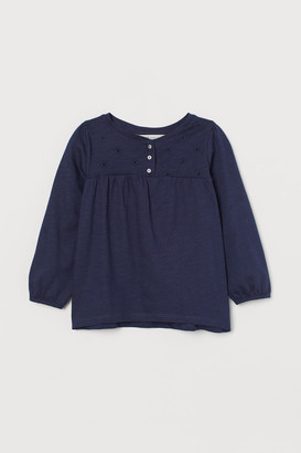 H&M Top with embroidery
