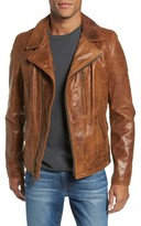 Schott NYC Men's Asymmetrical Waxy Leather Jacket