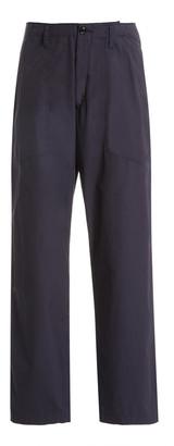 MONITALY Fatigue Cotton Straight-Leg Pants