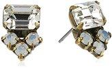 "Sorrelli Pearl Luster"" Truncated Cluster Post Stud Earrings"