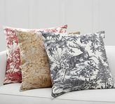 Pottery Barn Alpine Toile & Plaid Reversible Pillow Cover