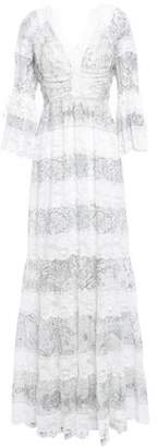 Etro Lace-paneled Printed Cotton And Silk-blend Maxi Dress
