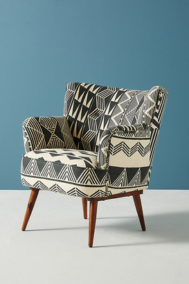 Anthropologie Ulla Petite Accent Armchair By in Black Size ALL