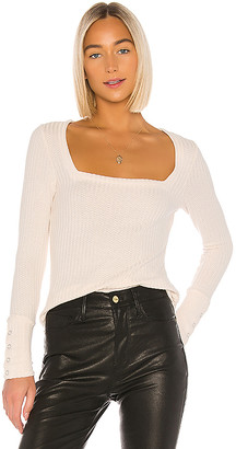 Chaser Square Neck Long Sleeve Tee