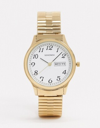 Sekonda expandable watch in gold 36mm