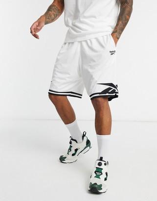 Reebok Classics basketball shorts in white